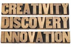 Creatividad, descubrimiento, innovación Fotografía de archivo libre de regalías