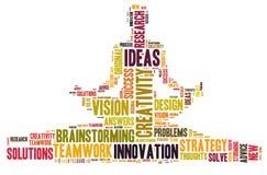 Creatividad e ideas y visión Imagen de archivo