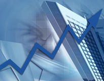 Creatività e successo finanziario aumentante Fotografie Stock