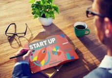 Creatività Startup di visione dell'innovazione di strategia del business plan concentrata immagini stock