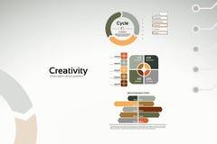 Creativiteit - bedrijfsgrafieken en statistieken Royalty-vrije Stock Afbeeldingen