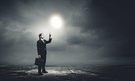 Creativiteit en brainstorming Stock Foto's
