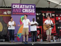 Creativiteit en Crisis Stock Foto