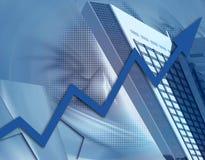 Creativiteit en stijgend financieel succes Stock Foto's
