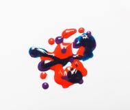 Creativiteit, modern art. Nagellak glanzende textuur Stock Foto