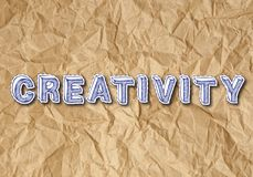 Creativiteit Verfrommeld Document Stock Foto's