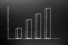 creativiteitconcept voor het ggrowing van grafiek en Succes, Bordwi Stock Afbeeldingen