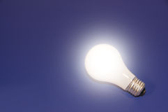 Creativity. Glowing Light Bulb Stock Photography