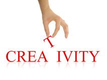 Creativity. Photo with clipping paths royalty free stock image