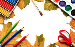 Creativity. Autumn - the beginning of classes in schools Stock Photos