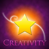 Creativity. Concept on a colourful background vector illustration