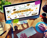 Creativity Ability Aspirations Create Development Concept. People Creativity Ability Aspirations Create Development royalty free stock image