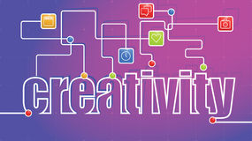 Creativity Abstract Text Stock Image