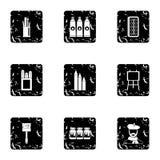 Creativity art icons set, grunge style Stock Images