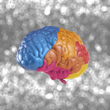 Creativity brain. Creativity concept with 3d rendering colorful brain Royalty Free Stock Image