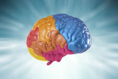 Creativity brain. Creativity concept with 3d rendering colorful brain Royalty Free Stock Images