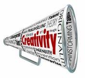 Creativity Bullhorn Megaphone Inventive Imaginative Innovative Royalty Free Stock Images