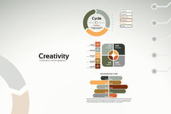 Creativity - business charts and statistics. Creative corporate graphs and diagrams for reports and presentations Royalty Free Stock Images