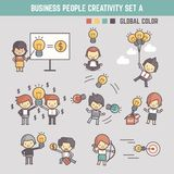 Creativity business people concept vector illustration outline c Royalty Free Stock Photography