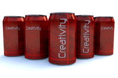Creativity cans Stock Images
