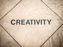 Creativity Carved in Stone Royalty Free Stock Image