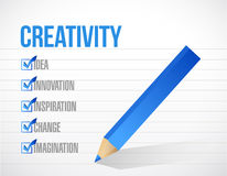 Creativity check mark list illustration design Stock Image
