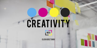 Creativity Color Imagination Creating Process Concept Royalty Free Stock Photography
