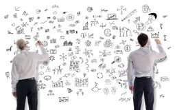 Creativity concept drawn by businessmen Royalty Free Stock Photography