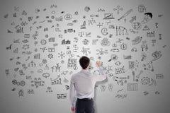 Creativity concept drawn by a man. Creativity concept drawn by a businessman Stock Photos