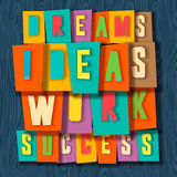 Creativity concept. Dreams, ideas, work, success Royalty Free Stock Image
