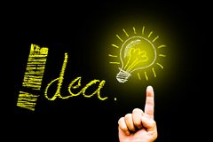 Creativity concept for good ideas on blackboard inspiration conc Stock Images