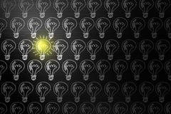 Creativity concept for good ideas on blackboard inspiration conc. Ept Stock Photo