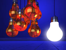 Creativity Concept with Light Bulb Royalty Free Stock Photo