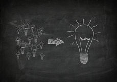 Blackboard good ideas Stock Photos