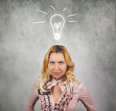Creativity concept woman Royalty Free Stock Photos