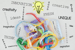 Creativity Concept Word Cloud. Creativity word cloud concept background Stock Photo