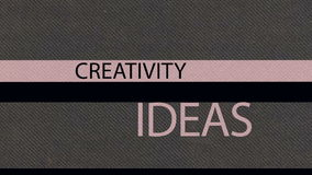Creativity concepts. 2d Introduction and creativity concepts stock video footage