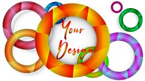 Creativity in creating cards and website headers royalty free illustration