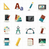Creativity and Design Icons Stock Image