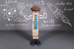 Creativity Education Concept with unusual teacher stock image