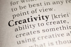 Creativity. Fake Dictionary, Dictionary definition of the word Creativity. including key descriptive words royalty free stock photography