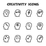 Creativity icons. Mono vector symbols Stock Photography