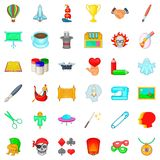 Creativity icons set, cartoon style Stock Photo