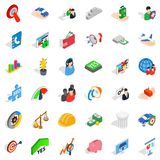 Creativity icons set, isometric style Royalty Free Stock Photography