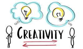 Creativity Ideas Brainstorm Communication Light Bulb Concept royalty free illustration