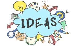 Creativity Ideas Design Thought Bubble Icon Concept. Creativity Ideas Design Thought Bubble Icon Stock Photos