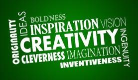 Creativity Imagination Inventive Word Collage Stock Photo
