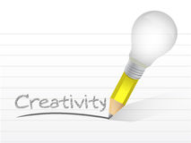 Creativity light bulb pencil concept Stock Photography