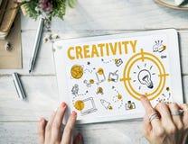 Creativity Lightbulb Technology Message Icon Concept Stock Photography