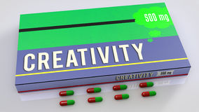 Creativity medicines Stock Image